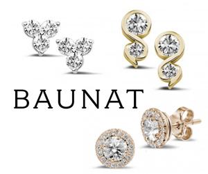 Des Boucles d'Oreilles en Diamants par Baunat
