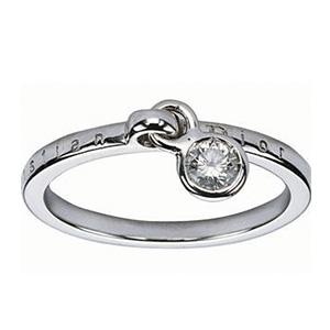Alliance Or Blanc avec son Charms Diamant Dior Joaillerie