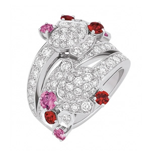Bague Bee my Love Saphirs Roses et Spinelles Rouges Chaumet