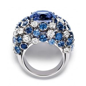 Bague Bee my Love Diamants et Saphirs Violet Chaumet