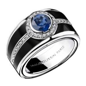 Bague Bonbon Bleu Or Blanc Saphir Bleu Diamants Mauboussin