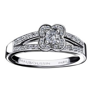Bague Chance of Love Diamants Or Blanc Mauboussin