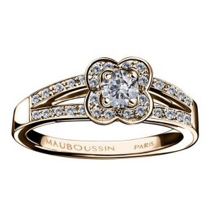 Bague Chance of Love Diamants Or Rose Mauboussin