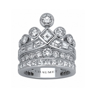 Bague Couronne Joséphine Platine sertie de Diamants de Chaumet
