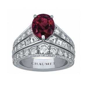Bague Diadème Joséphine Platine, Diamants et Rubis de Chaumet