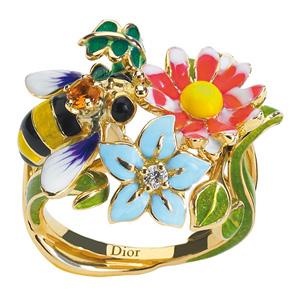 Bague Diorette Abeille Diamant Or Jaune Dior Joaillerie