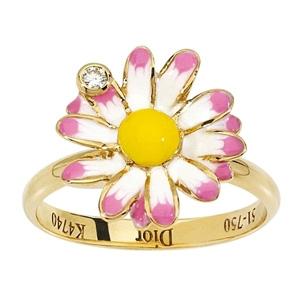 Bague Diorette Marguerite Diamant Or Jaune Dior Joaillerie