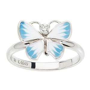 Bague Diorette Papillon Diamant Or Blanc Dior Joaillerie