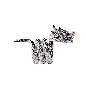 Bague Dragon en Or Blanc et Diamants de AS29 & Pascale Renaud