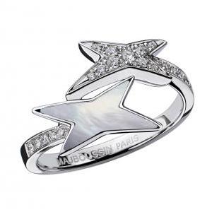 Bague Étoile de Vie Or Blanc Nacre Blanche Diamants Mauboussin