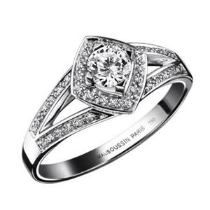 Bague Fiançailles Love my Love Or Blanc Diamants Mauboussin