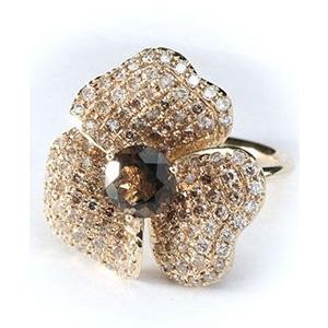 Bague Fleur en Diamants Cognac Diamants Blancs de AS29