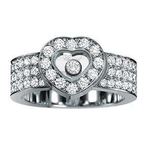 Bague Happy Diamonds Or Blanc Pavage Diamants Chopard