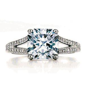 Bague Lucida en Platine et Diamant Princesse de Tiffany & Co