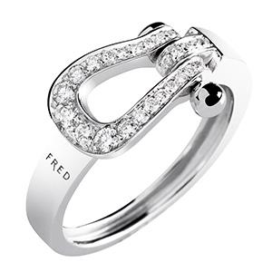 Bague Mini Force 10 Ruban Or Gris 27 Diamants de Fred
