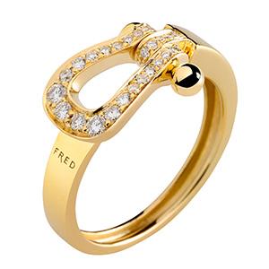 Bague Mini Force 10 Ruban Or Jaune 27 Diamants de Fred