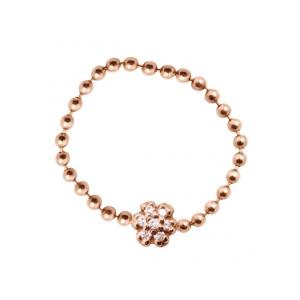 Bague Mini Lotus Diamants Chocolats Or Rose Ginette NY
