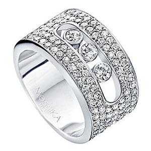 Bague Move en Or Blanc et Pavage Diamants de Messika