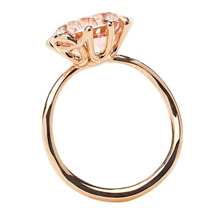 Bague Oui Morganite Or Rouge Dior Joaillerie