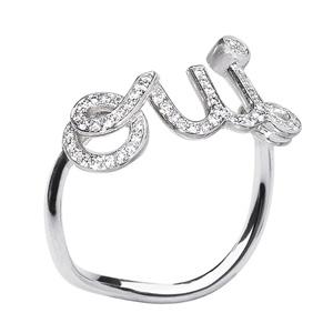 Bague Oui Or Blanc Pavée de Diamants Dior Joaillerie