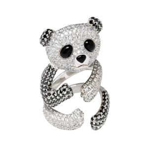 Bague Panda Onyx Diamants Blancs et Noirs Morganne Bello