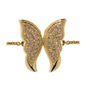 Bague Papillon en Or Jaune et Diamant Brun d'Elise Dray