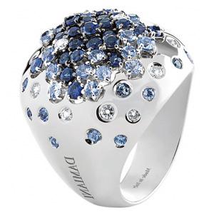 Bague Paradise en Or Blanc avec Saphirs et Diamants de Damiani