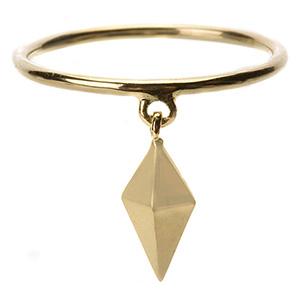 Bague Pyramide avec Breloque Or Jaune de Deborah Pagani