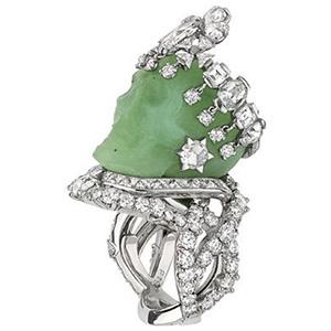 Bague Reine Jadélénie Platine Diamants Jadeite Dior Joaillerie