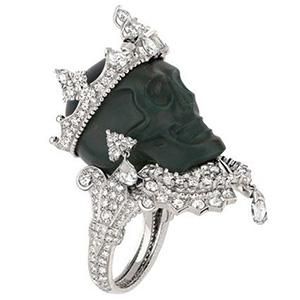 Bague Reine Jaspe Sanguin Platine Diamants de Dior Joaillerie