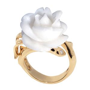 Bague Rose Pré Catelan Corail Blanc Dior Joaillerie