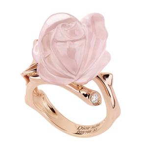 Bague Rose Pré Catelan Quartz Rose Dior Joaillerie