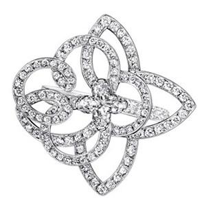 Bague Solitaire en Platine et Diamants de Louis Vuitton Joaillerie