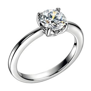 Bague Solitaire en Platine et Diamant de 1 Carat de Chopard