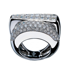Bague Success Or Blanc Pavée Diamants Fred