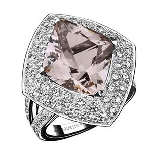 Bague diamant rose mauboussin