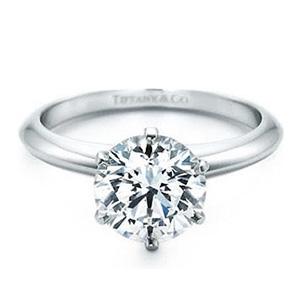 Bague Tiffany Setting en Or Blanc Diamant Tiffany & Co
