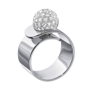 Bague Vertige Perle de Diamants Or Blanc Dinh Van