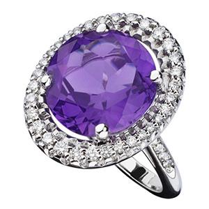 Bague Vraiment Toi en Or Gris Améthyste et Diamants Mauboussin