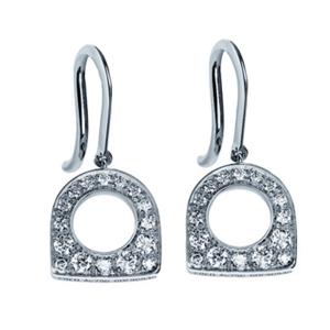 Boucles d'Oreilles Success Mini Or Blanc Diamants Fred