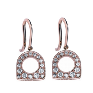 Boucles d'Oreilles Success Mini Or Rose Diamants Fred