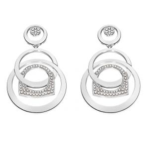 Boucles d'Oreilles Success Mobile Or Blanc Diamants Fred