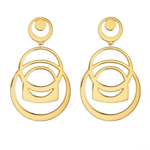 Boucles d'Oreilles Success Mobile Or Jaune Fred