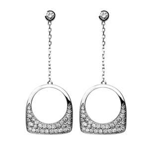 Boucles d'Oreilles Success Skin Or Blanc Diamants Fred