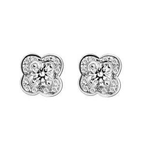 Boucles d'Oreilles Chance of Love Diamants Or Blanc Mauboussin