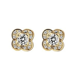 Boucles d'Oreilles Chance of Love Diamants Or Jaune Mauboussin