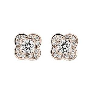 Boucles d'Oreilles Chance of Love Diamants Or Rose Mauboussin