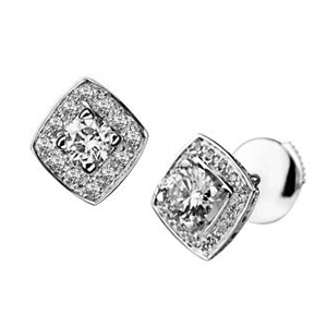 Puces d'Oreilles Love my Love Or Blanc Diamants Mauboussin