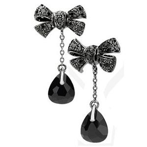 Boucles d'Oreilles Forever Or Blanc Diamants Noirs Pomellato