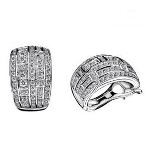 Boucles d'oreilles le Vice et la Vertu Or Blanc Pavage Diamants Mauboussin